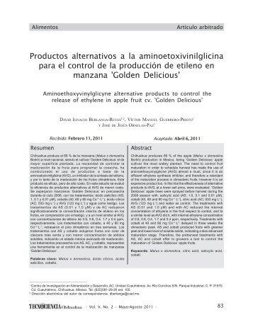 Productos alternativos a la aminoetoxivinilglicina para el control de ...