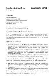 Die Kleine Anfrage und Antwort der Landesregierung als PDF-Datei.