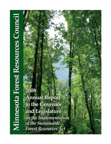 2008 Annual Report to the Governor and Legislature - Minnesota ...