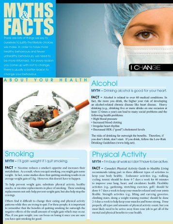 Myths and Facts About Your Health (pdf) - City of Windsor Wellness