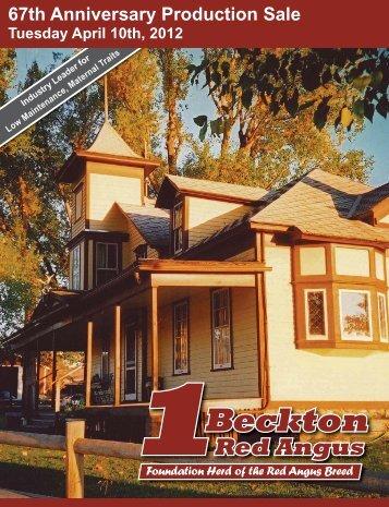 2012 Beckton Catalog.indb - Beckton Red Angus