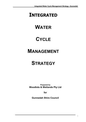 Integrated Water Cycle Management Strategy - Gunnedah Shire ...