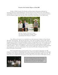Friends of the Smokies' Report to Park 2008 In May of 2008, Friends ...