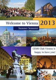 Welcome to Vienna – SS 2013 - at cems.at