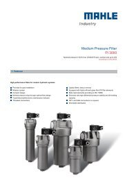 Medium Pressure Filter Pi 3000 - MAHLE Industry - Filtration
