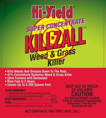 Label 33691 Super Concentrate Killzall Approved 3-6-13 - Fertilome