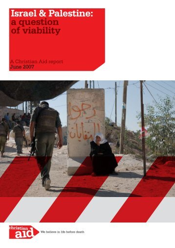Israel & Palestine: a question of viability - Christian Aid