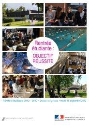 Rentrée étudiante : Objectif réussite - Ministère de l'enseignement ...