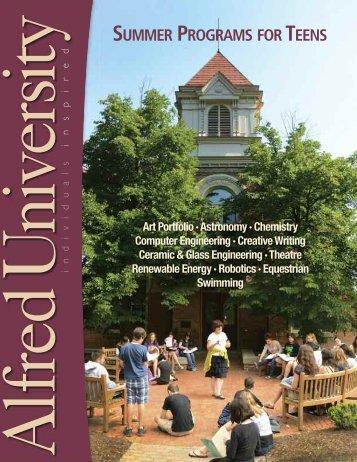 Summer Programs Brochure - Alfred University