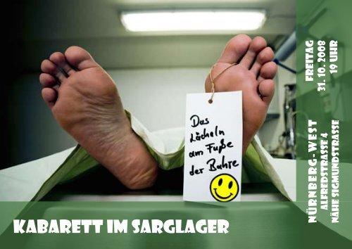 Kabarett im Sarglager - Trauerhilfe Stier