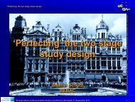 the two stage study design - BEBAC • Consultancy Services for ...