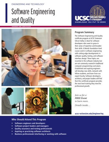 Software Engineering and Quality - UCSC Extension Silicon Valley