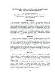 felvehető - Magyar Talajtani Társaság