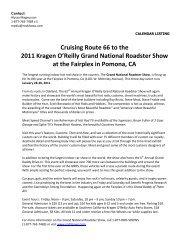 Cruising Route 66 to the 2011 Kragen O'Reilly ... - RodShows.com