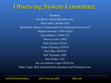 presented - Gulf of Mexico Coastal Ocean Observing System