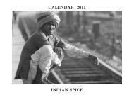 CALENDAR 2011 INDIAN SPICE - Alistair J Bray