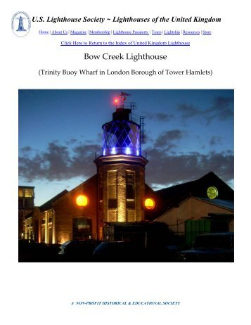 Bow Creek Lighthouse, Trinity Buoy Wharf, Borough of Tower Hamlets