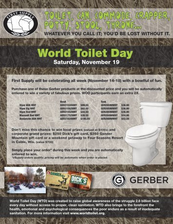 World Toilet Day - First Supply