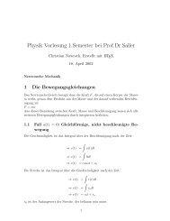 Physik Vorlesung 1.Semester bei Prof.Dr.Saller - Roggeweck.net