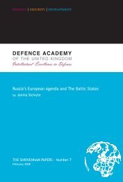 Russia's European Agenda and The Baltic States - Defence ...