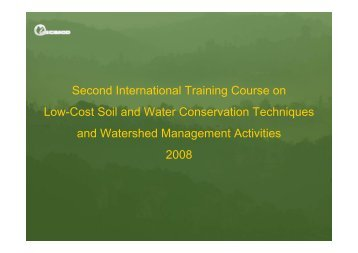 Presentation - World Association of Soil and Water Conservation