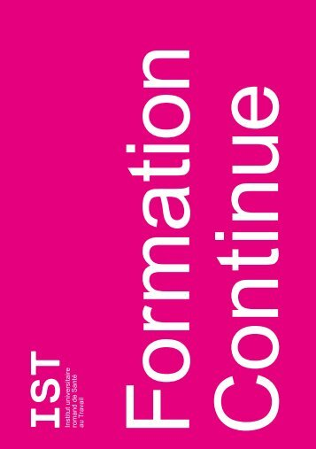 Télécharger la brochure - Institut universitaire romand de Santé au ...