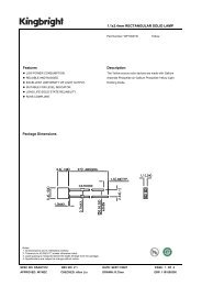 1.1x3.4mm RECTANGULAR SOLID LAMP Features Description ...
