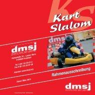 Grundausschreibung dmsj Kart Slalom 2013 - MSC Adenau e. V.
