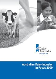 Australian Dairy Industry In Focus 2009 - Dairying For Tomorrow