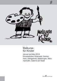 Malkurse für Kinder - bei der Stadt Sindelfingen