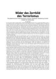 Wider das Zerrbild des Terrorismus - Ludwig Watzal