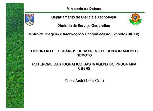 Potencial Cartográfico das Imagens CBERS - INPE/OBT/DGI