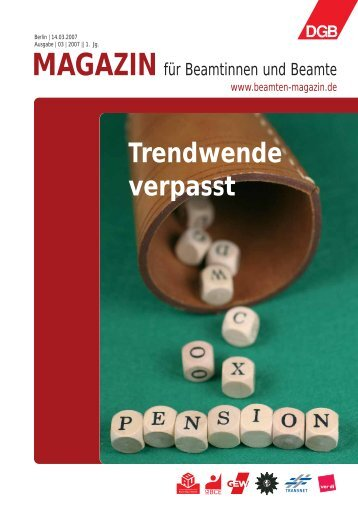 Ausgabe 03/2007 - Landesbeamte