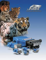 CAT PUMPS company profile and corporate brochure - Zycon