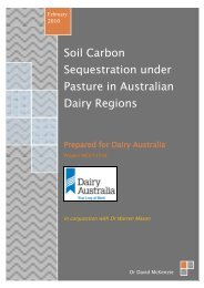 Soil Carbon Sequestration under Pasture in Australian Dairy Regions