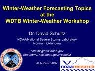 Winter Weather Forecasting Topics - NOAA