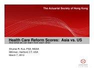 Asia vs. US - Actuarial Society of Hong Kong