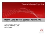 Asia vs. US - Actuarial Society of Hong Kong
