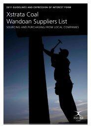 Wandoan Suppliers List Expression of Interest Form - Xstrata Coal ...