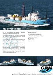 MV Investigator - GEMS Group