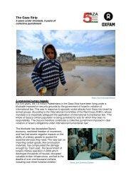 The Gaza Strip - Oxfam International