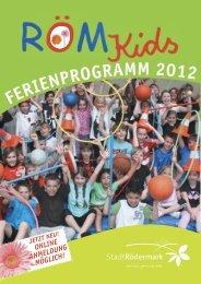FERIENPROGRAMM 2012 - Stadt Rödermark
