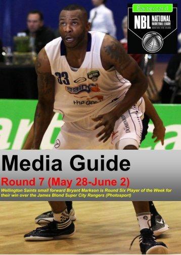 2013 Bartercard NBL Media Guide (Round Seven)