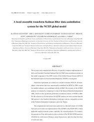 A local ensemble transform Kalman filter data assimilation system ...
