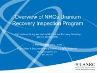 Overview of NRCs Uranium Recovery Inspection Program