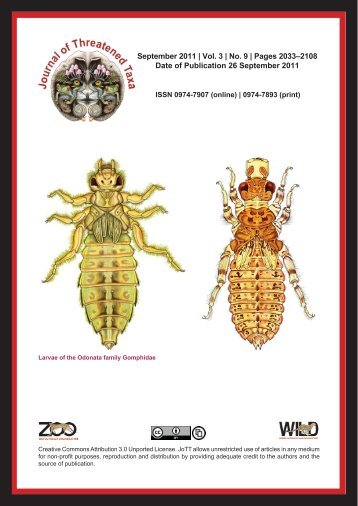 PDF - Journal of Threatened Taxa