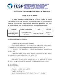 Edital 09-13 - processo externo de contabeis - FESP