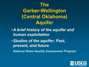 The Garber-Wellington - Water Resources Board