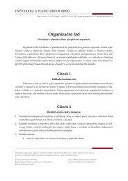 Organizační řád - Hvězdárna a planetárium Brno