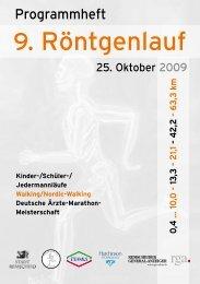 Programmheft 2009 - Remscheider Röntgenlauf